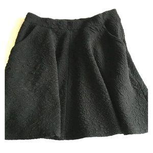 Topshop black skater skirt